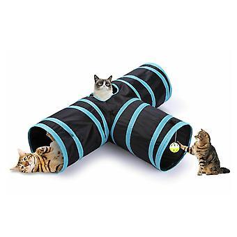 Katzentunnel auf 3 Arten mit Peep Hole Spielzeug