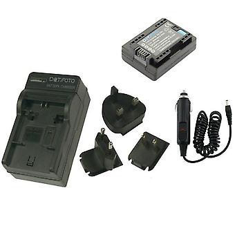Dot.Foto BP-709 PREMIUM 3.6v/895mAh Batterie- und Batterie-Reiseladegerät für Canon - 100-240v Netz - 12v In-Car-Adapter [Siehe Beschreibung für Kompatibilität]