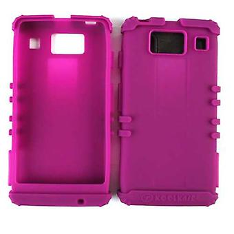 Unlimited Cellular Rocker Series Silicone Skin Case for Motorola XT926/MOTXT926M (Dark Purple)