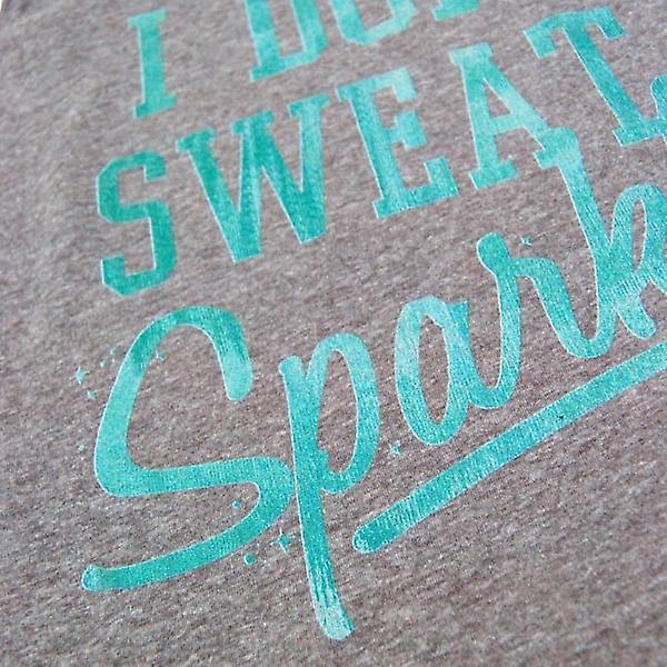 Fifth Sun I Don't Sweat I Sparkle Tri-Blend Racerback Vest Heather Grey