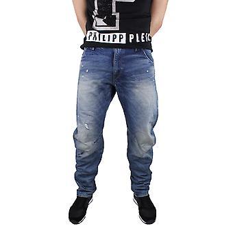 G-Star Arc 3D Loose Tapered Medium Aged Destroy Visor Denim Jeans