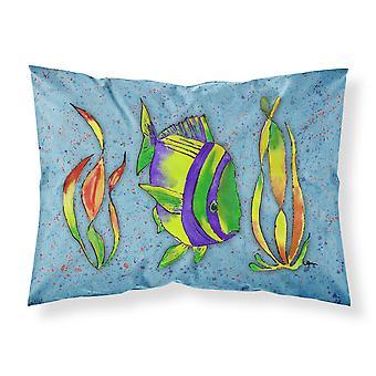 Tropical Fish on Blue Moisture wicking Fabric standard pillowcase