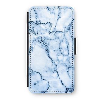 iPhone X フリップ ケース - 青い大理石