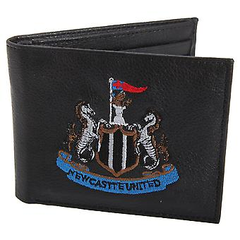 Newcastle United FC Mens Official Leather Wallet With Embroidered Football Crest
