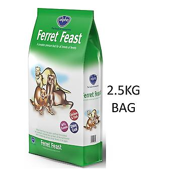 ALPHA FERRET FEAST COMPLETE HIGH PROTEIN FOOD DIET BISCUITS 2.5kg