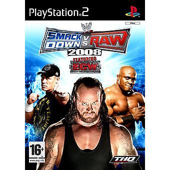 SmackDown Vs Raw 2008 (PS2) - Ny fabrik förseglad