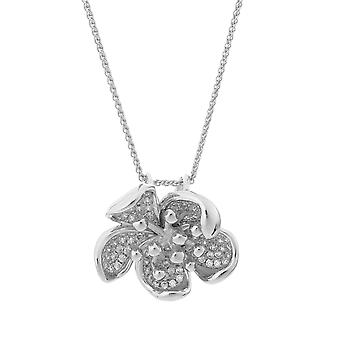 Orphelia Silver 925 Chain With Pendant Luxe Flower With Zirconium  ZH-7297