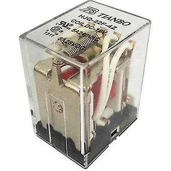 Tianbo Electronics HJQ-22F-4Z -12VDC Plug-in relay 12 V DC 5 A 4 change-overs 1 pc(s)