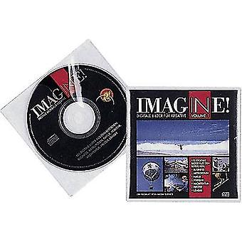 Kestävä CD box 1 CD/DVD/Blu-Ray PP läpinäkyvä 10 PCs() 520219