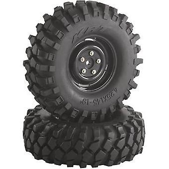 Absima 1:10 Crawler wielen Offroad V blok Crawler zwart 2 PC('s)