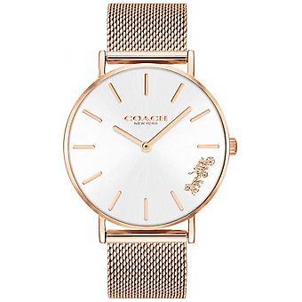 Coach Womens Perry Rose goud Mesh armband 14503126 horloge