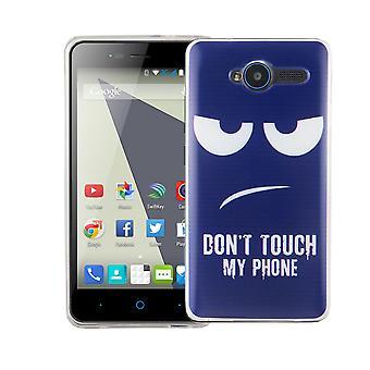 Mobiele telefoon geval voor ZTE blade L3 cover case beschermende zak motief slanke siliconen TPU raak niet mijn telefoon Blau