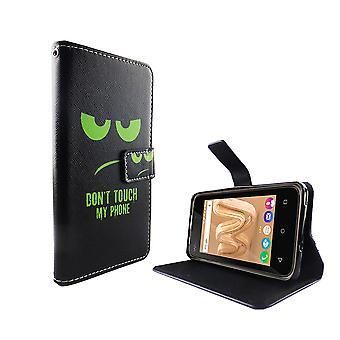 Matkapuhelin tapauksessa pussi mobiili WIKO Jerry Max Älä koske puhelimeen vihreä