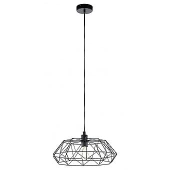 Eglo Carlton Saucer Geometric Black Island Pendant Light