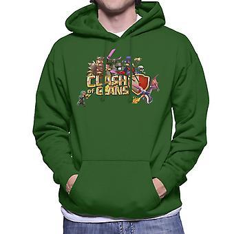 Clash Of Clans Characters Logo Men's Hooded Sweatshirt