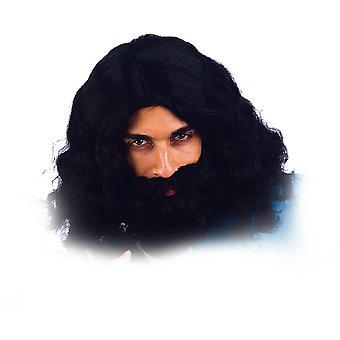 Pruik met baard musketier koning pruik mannen