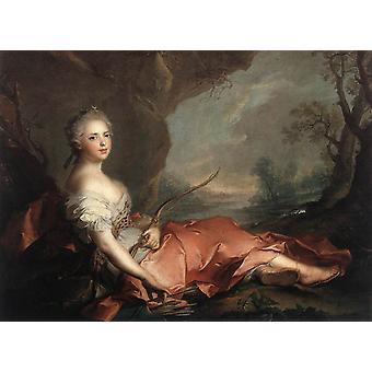 Marie Adelaide of France Represented, Jean Marc Nattier, 50x40cm