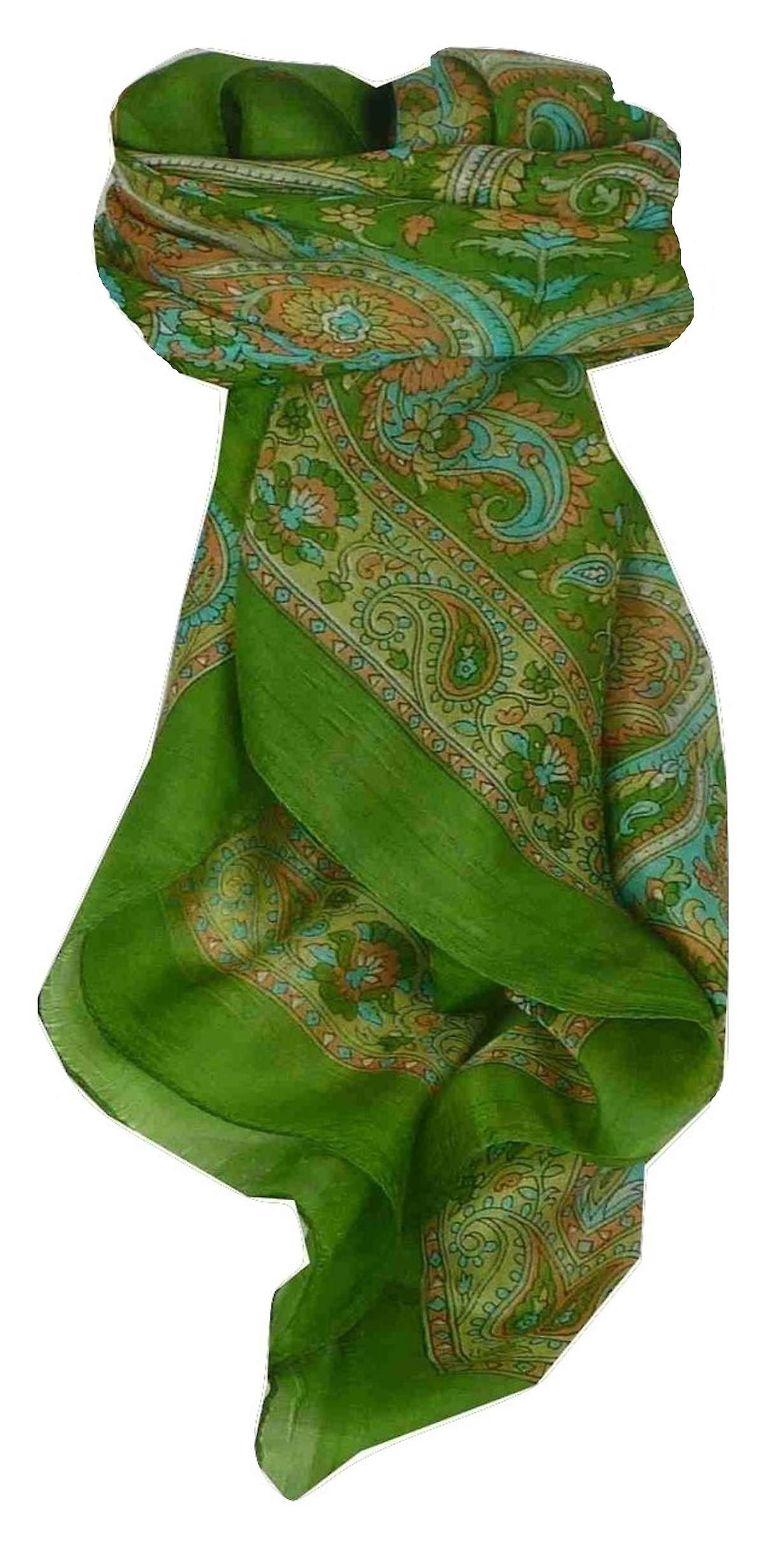 Mulberry Silk Traditional Square Scarf Firoza Sage by Pashmina & Silk