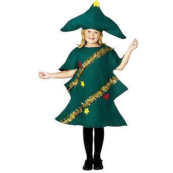 Joulukuusi puku, lapsi.  Pieni ikä 3-5