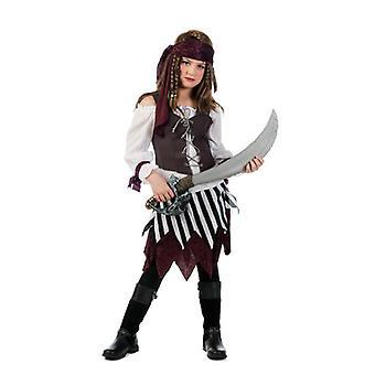 Maîtresse de pirate de costume Pirantin Talia fille des mers kids costume