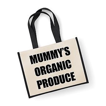 Large Black Jute Bag Mummy's Organic Produce