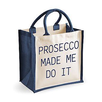 Mediu iută bag Prosecco made eu a face it bleumarin