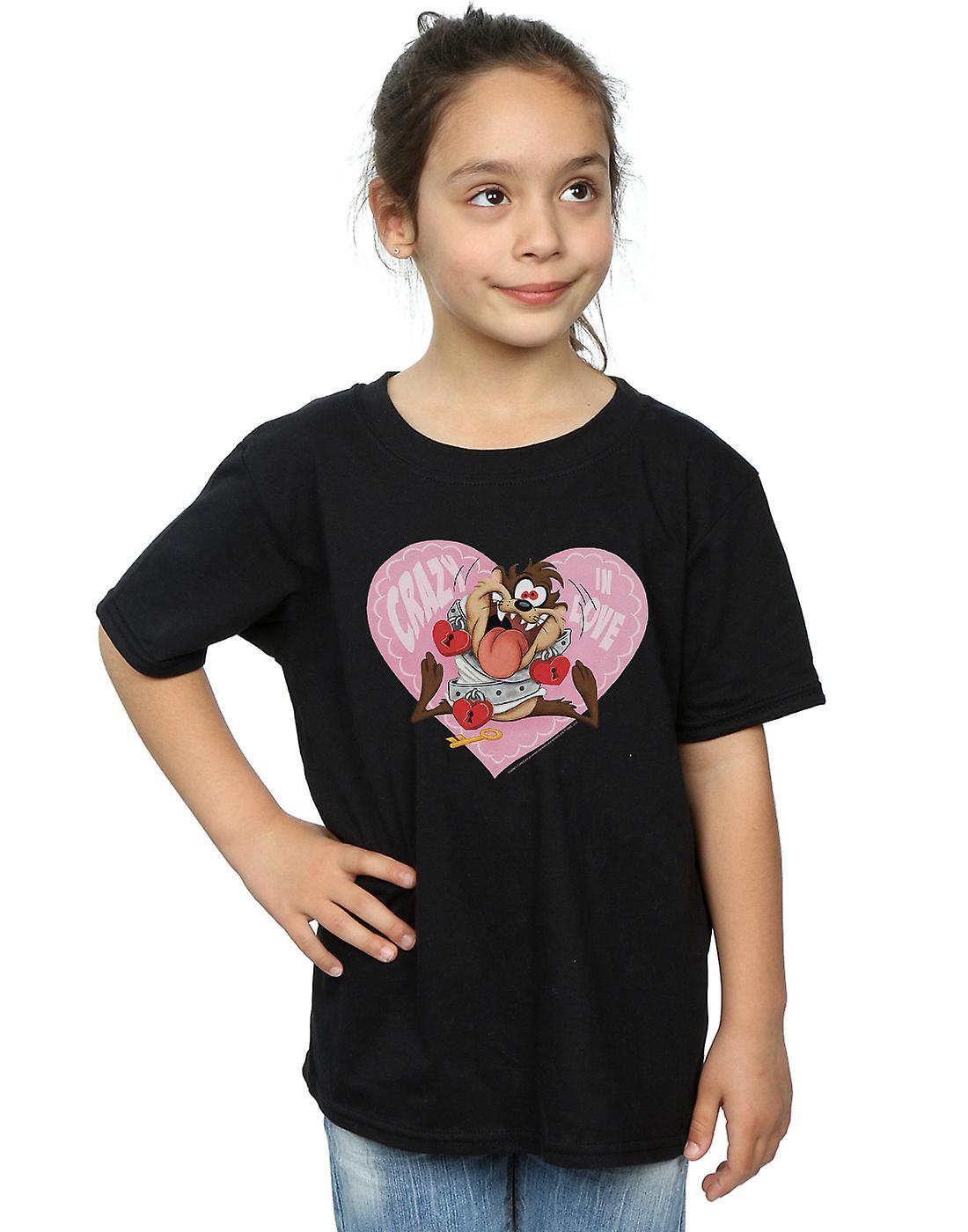 Looney Tunes Girls Taz Valentine's Day Crazy In Love T-Shirt
