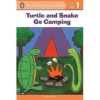 Kilpikonna ja käärme mennä Camping (lunni-helppolukuinen)