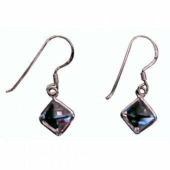 Diamond Shaped Cubic Zircon Simulated Diamond Earrings