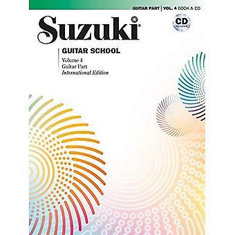 Suzuki Guitar School, Vol 4: Gitarr del, bok & CD (Suzuki Guitar School)