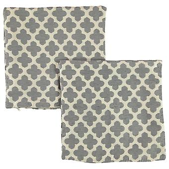 Linens and Lace Unisex 2 Pack Morrocan Tile Cushion Covers