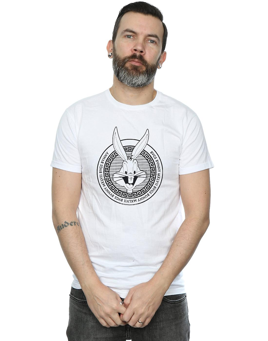 Looney Tunes Men's Bugs Bunny Greek Circle T-Shirt