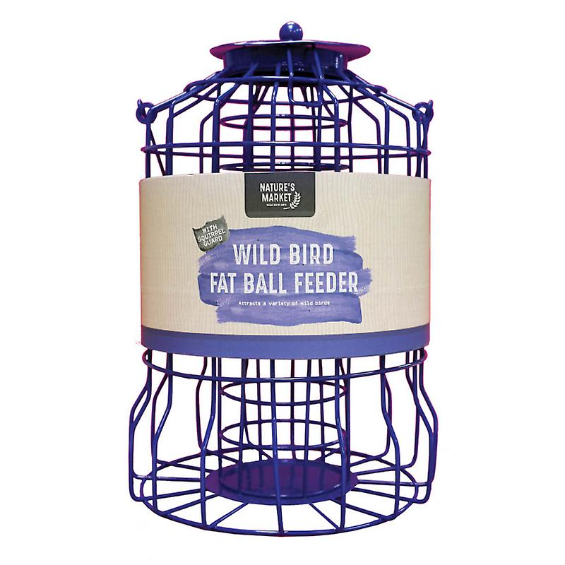 Natures Market BF007FB Squirrel Guard Suet Fat Ball Wild Bird Feeder