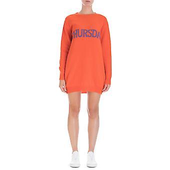 Alberta Ferretti 048566021041 Frauen's Orange Wollkleid