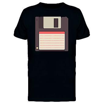Floppy Disc Flat Style Tee Men's -Image by Shutterstock
