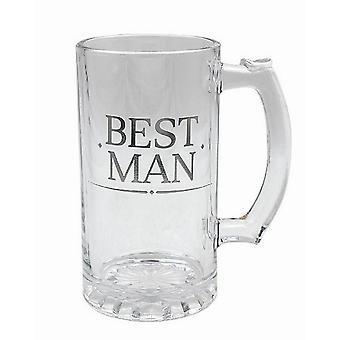 Best Man Glass Drink Tankard