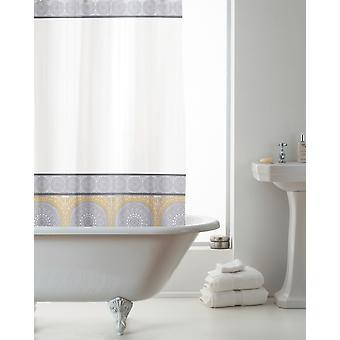Country Club EVA Shower Curtain, Mandala Grey