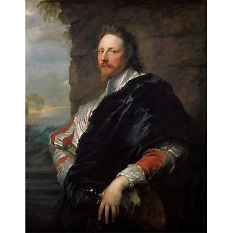 Nicholas Lanier,Anthony Van Dyck,50x40cm