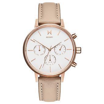 MVMT Nova Luna dames horloge horloge lederen FC01-RGNU