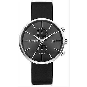 Jacob Jensen Linear Series Watch - Black/Grey
