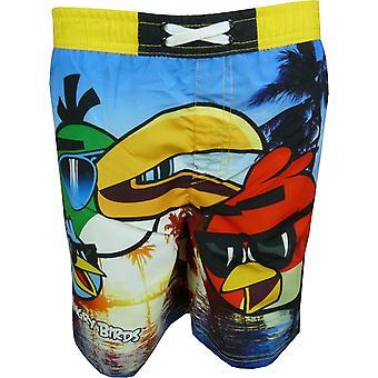 Chlapci naštvaný vtáky plávať šortky nové