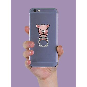 Grindstore Squeaky Pig Phone Ring & Stand