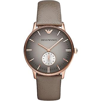 Emporio Armani Ar1723 Gents Gianni Leather Strap Watch