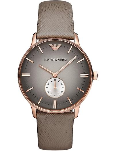 Emporio Armani Ar1723 Gents Gianni Leather Strap Watch