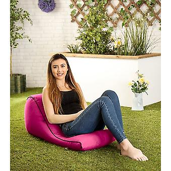 Pink 'Kai' Water Resistant Outdoor Bean Bag Wedge Lounger Backpack