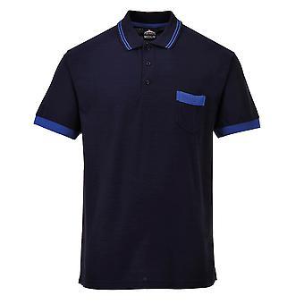 Portwest Mens שרוול קצר בניגוד חולצה חולצת פולו