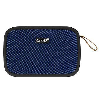 LinQ Wireless Bluetooth Speaker 4.2 USB Micro-USB Card FM Radio Blue