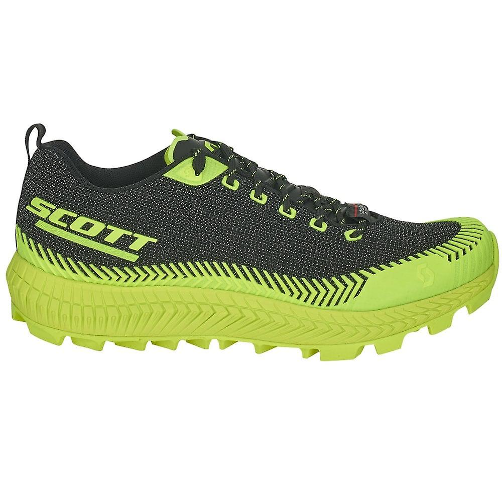 Scott Supertrac Ultra Rc Mens Cushioned Off-road Running Shoes Black/yellow