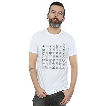 Marvel Men's Spider-Man Spidey Symbols Sketched T-Shirt