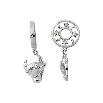 Storywheels prata & Diamond Taurus Zodiac Charm S195D